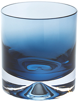 Dartington Crystal Dimple 50th Ink Blue Double Old Fashioned Tumbler, Set of 2