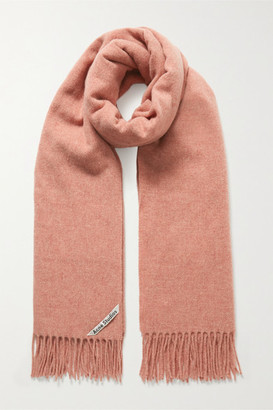 Acne Studios Fringed Wool Scarf - Antique rose
