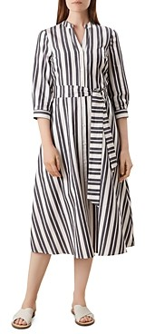 Hobbs London Leanna Striped Shirt Dress