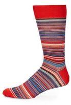 Saks Fifth Avenue Striped Mercerized Socks