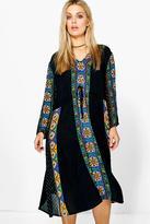 Boohoo Plus Jess Retro Print Midi Dress multi