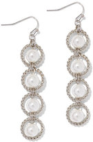 New York & Co. Four-Tier Faux-Pearl Drop Earring