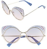 Marc Jacobs Women's 61Mm Rimless Gradient Cat Eye Sunglasses - Blue/ Pink