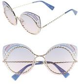 Marc Jacobs Women's 61Mm Rimless Gradient Cat Eye Sunglasses - Blue/ Pink