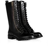 Marc by Marc Jacobs Black Leather Lace-Up Boots