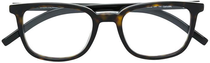 Christian Dior square frame tortoiseshell effect glasses