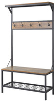 Homestar Homestar 3 Shelf 39 in. Wide Metal/Wood Hall Tree