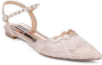 Badgley Mischka Women's Lennon Crystal & Faux Pearl Pointed Toe Flats