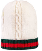 Gucci Wool Web-Trim Tricot Beanie