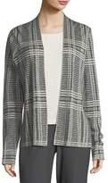 Eileen Fisher Sleek Printed Tencel®/Merino Shaped Cardigan