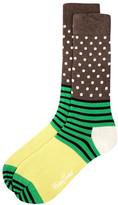 Happy Socks Dots & Stripes Crew Socks