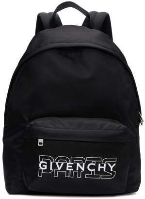 Givenchy Black New Paris Backpack