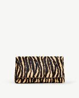 Ann Taylor Haircalf Foldover Clutch