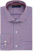 Tommy Hilfiger Men's Big & Tall Classic-Fit Non-Iron Red Multi-Check Dress Shirt