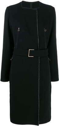 LANVIN Pre-Owned 2003's Belted Midi Coat