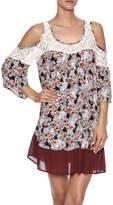 She & Sky Floral Cold Shoulder Dress