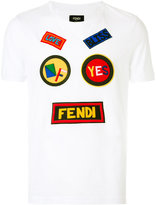Fendi T-shirt with patches - men - Cotton/Polyester - 46