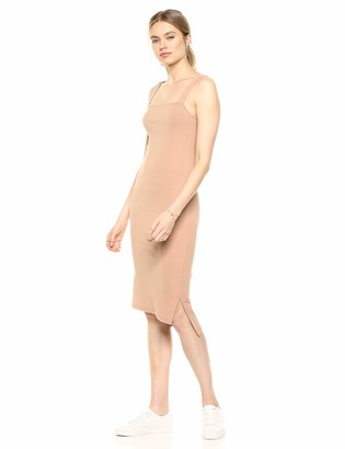 The Drop Women's Amelia Square Neck Strappy Bodycon Midi Tank Dress Dress