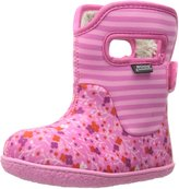 Bogs Baby Classic Flower Stripe Waterproof Winter and Rain Boot (Infant/Toddler/Little Kid/Big Kid)