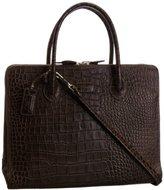 Osprey London Women's Correspondent Polished Croc Top-Handle Bag,One Size