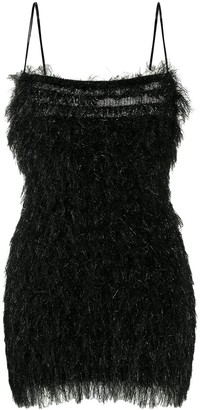 Laneus Fringe Knit Dress