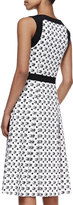 Carolina Herrera Tile-Print A-Line Dress