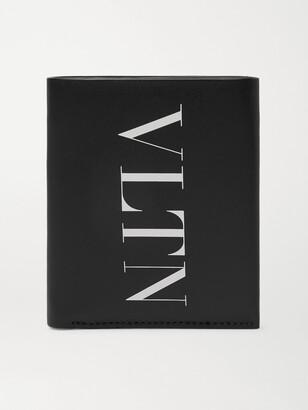 Valentino Logo-Print Leather Billfold Wallet