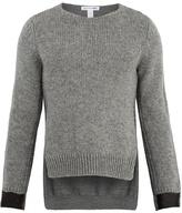 Comme Des Garcons Shirt Step-hem Wool Sweater