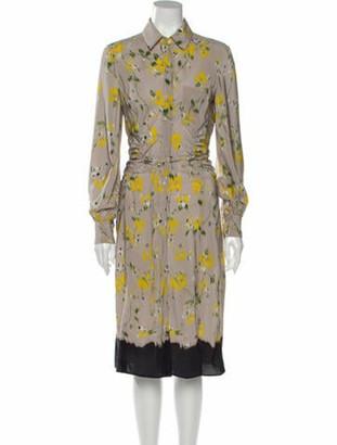 Altuzarra Silk Midi Length Dress