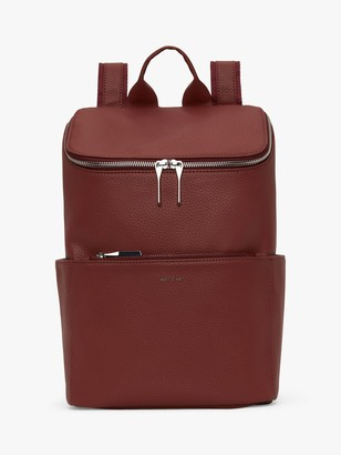 Matt & Nat Recycled Purity Collection Brave Vegan Backpack, Burgundy