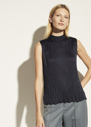 Vince Rib Mock Neck Shell