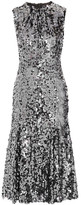 Dolce & Gabbana Sequined Tulle Midi Dress - Gunmetal
