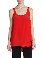 Elizabeth and James Ester Silk Asymmetrical Tank