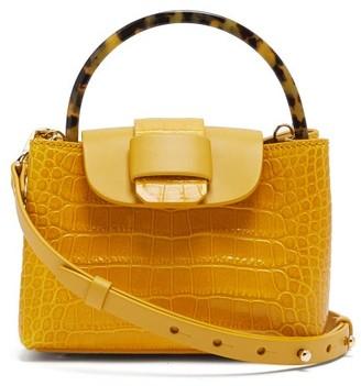 Nico Giani Myria Leather Cross-body Bag - Yellow