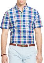 Polo Ralph Lauren Big and Tall Short Sleeve Plaid Poplin Shirt