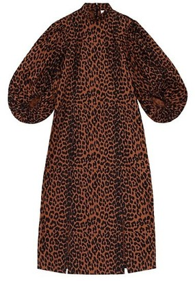 Ganni Leopard Midi Dress
