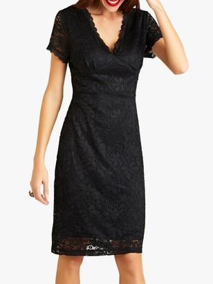 Yumi Party Lace Dress, Black