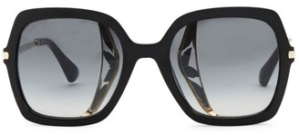 Jimmy Choo 53MM Jonas Tortoiseshell Large Sunglasses