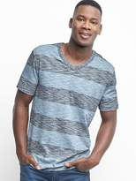 Gap Rugby stripe V-neck slub tee