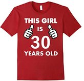 Men's This Girl Is 30 Years Old T-Shirt Medium