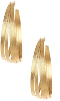Rivka Friedman 18K Gold Clad Bold Multi-Row Hoop Satin Earrings