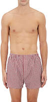 Barneys New York Men's Gingham Cotton Poplin Boxers