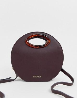 Carvela Emma circle across body bag in wine-Purple