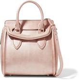 Alexander McQueen Heroine small metallic textured-leather shoulder bag