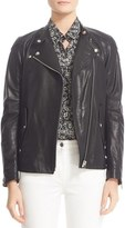 Belstaff Women's Burnett Leather Moto Jacket