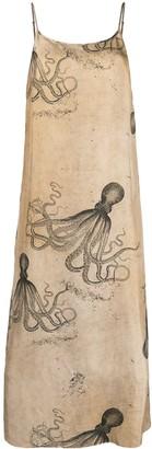 UMA WANG Octopus Print Midi Dress