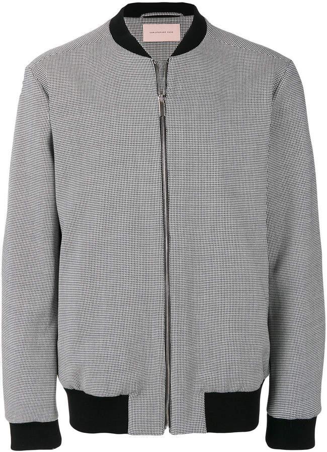 Christopher Kane houndstooth bomber jacket