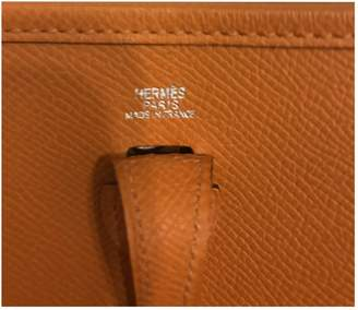 Hermes Evelyne Orange Leather Handbags