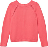 Cyrillus Pink Knit Button Back Detail Jumper