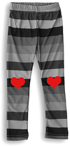Urban Smalls Black & Red Heart Toasties Leggings - Infant Toddler & Girls